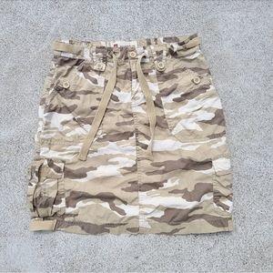 GAP Camo Mini Cargo Skirt